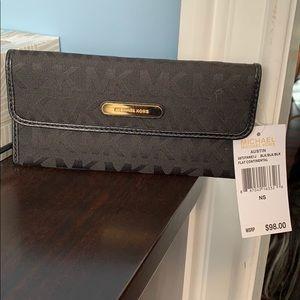 Michael Kors black logo wallet